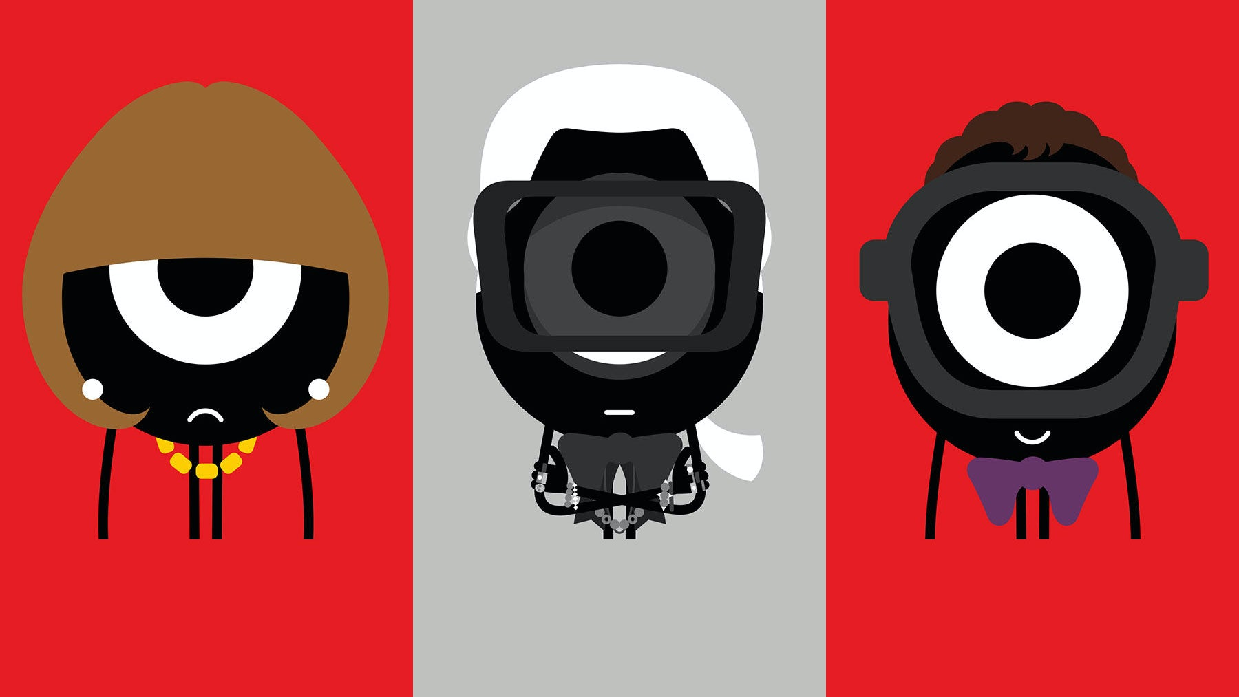 Anna Wintour, Karl Lagerfeld and Alber Elbaz | Illustrations by Darcel Disappoints