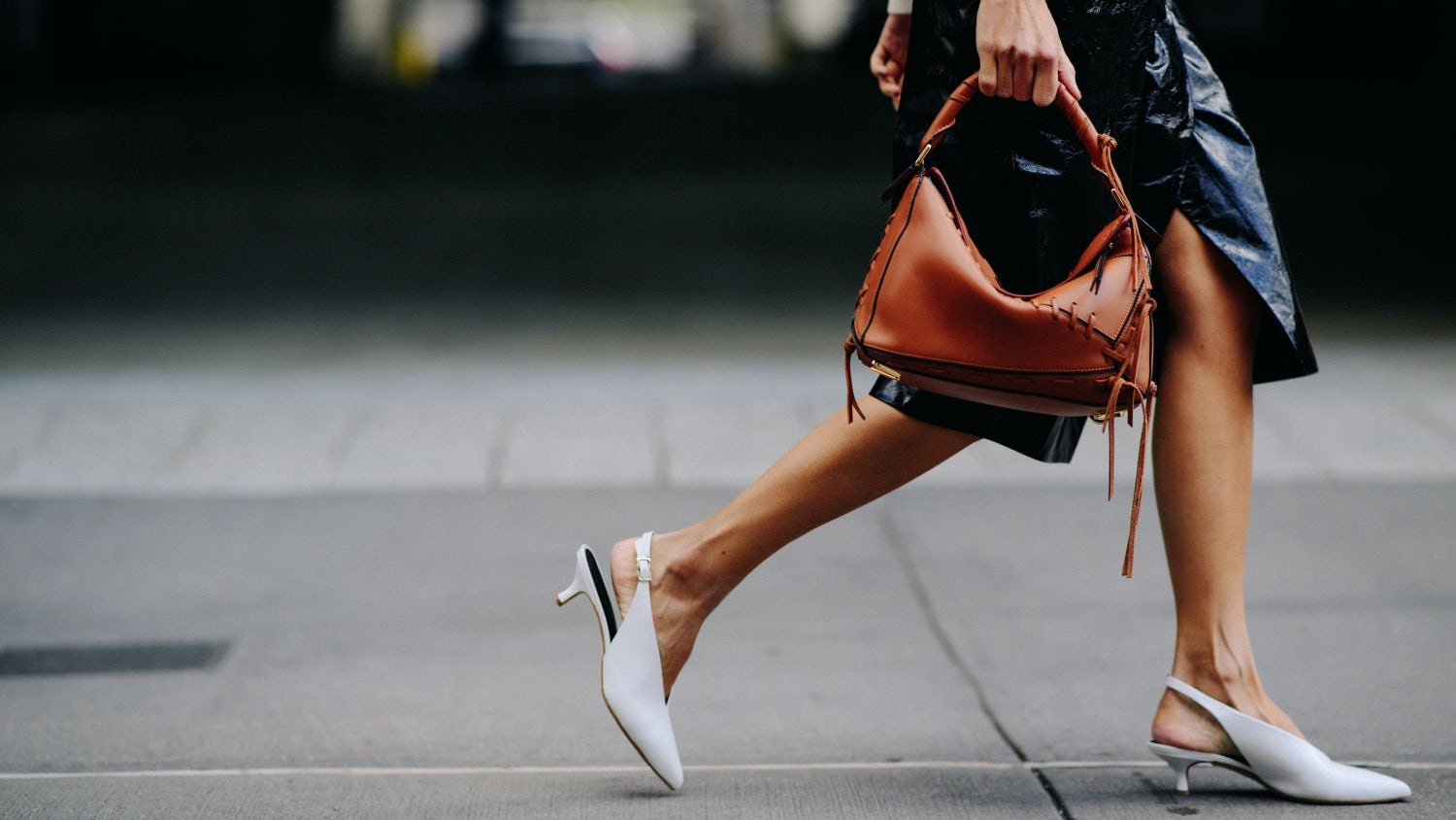 Linda Tol wears Tibi heels at New York Fashion Week in September | Source: Adam Katz Sinding