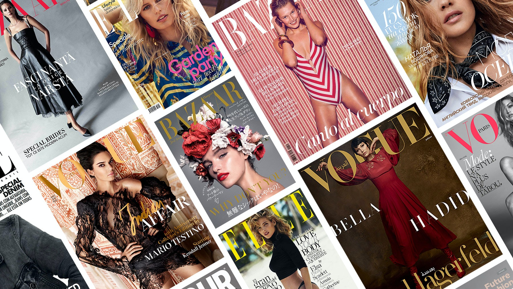 National editions of fashion magazines | Sources: Courtesy