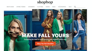 Shopbop's new homepage  | Source: Courtesy