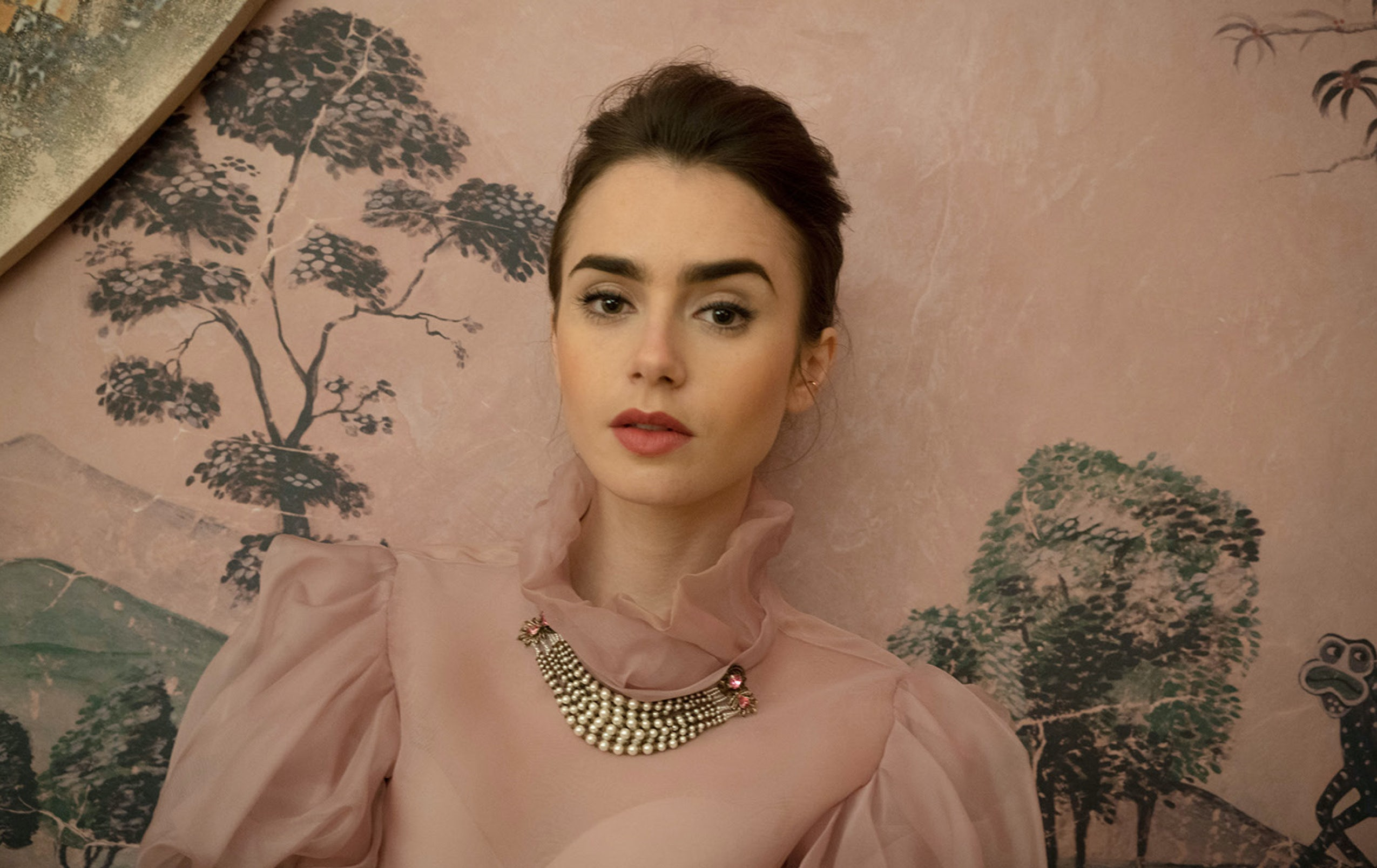 Lily Collins on The New Potato's new homepage | Source: Courtesy