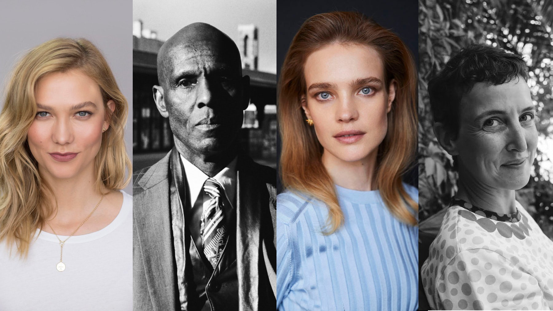 From left: Karlie Kloss, Dapper Dan, Natalia Vodianova, Sarah Andelman | Sources: Courtesy