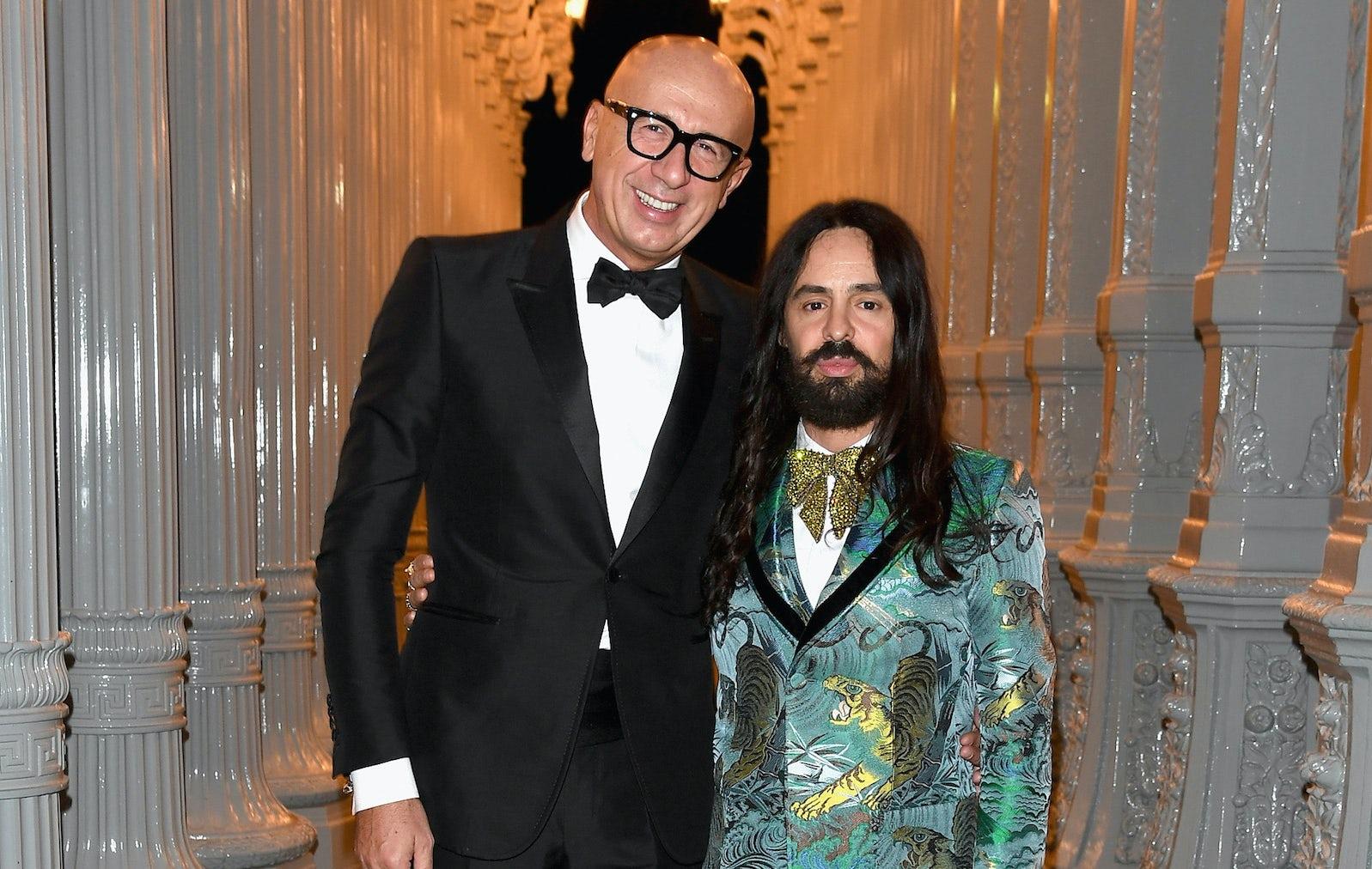 Gucci chief executive Marco Bizzarri with Gucci creative director Alessandro Michele | Source: Getty Images