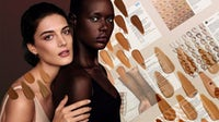 Cover FX's Nude is Not Beige campaign, and Instagram images from Clinique, Fenty Beauty, Estée Lauder   Illustration by Nerea Verdejo Blanco for BoF