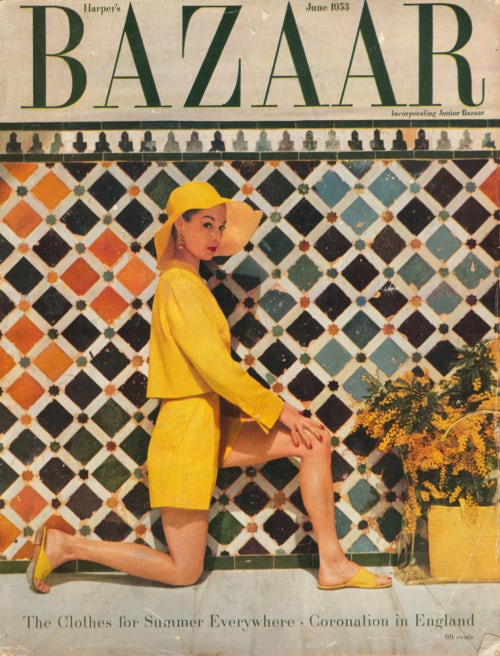 Harpers Bazaar June 1953, Jean Patchett in Clare Potter | Photo: Louise Dahl-Wolfe