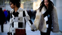 Luka Sabbat and Adriana Mora at the Off-White show | Photo: Adam Katz Sinding