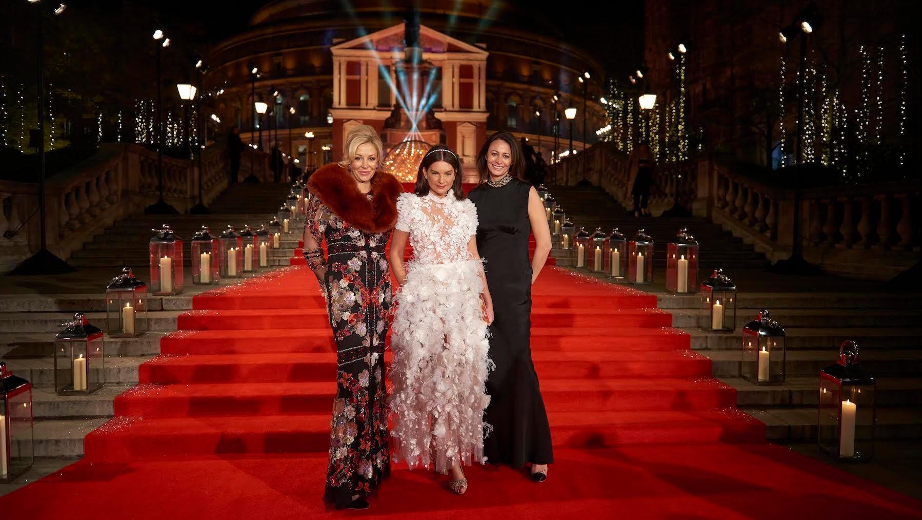 Nadja Swarovski, Dame Natalie Massenet and Caroline Rush at the 2016 Fashion Awards in London   Source: Courtesy