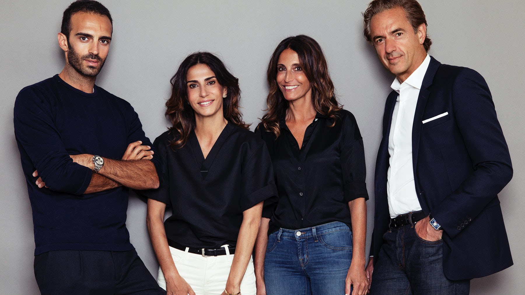Ilan Chetrite, Founder of Sandro menswear, Judith Milgrom, Founder of Maje, Evelyne Chetrite, Founder of Sandro and Daniel Lalonde, SMCP Chief Executive | Source: Courtesy