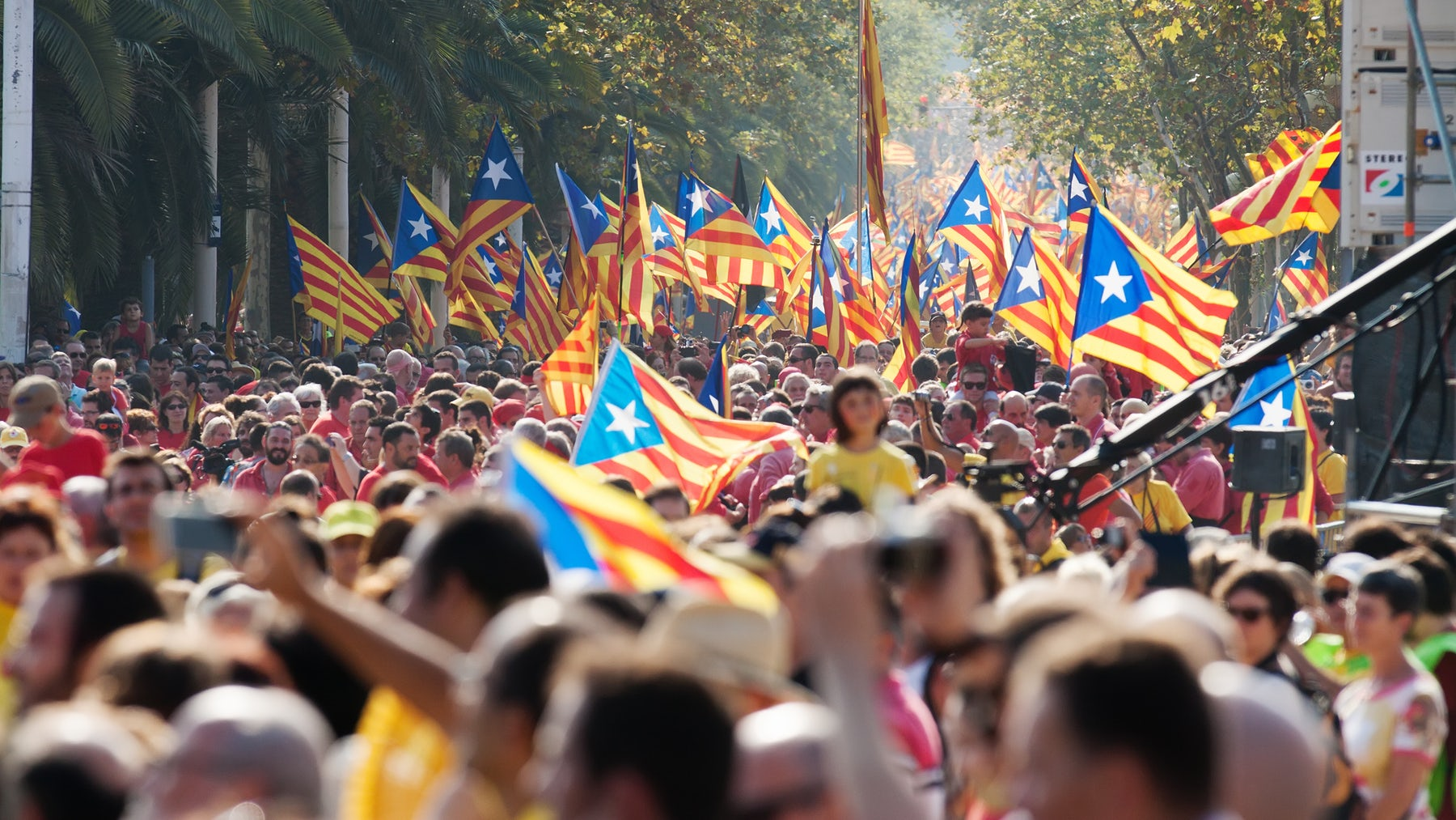 Violence erupted after Sunday's vote in favour of independence in Catalonia | Source: Shutterstock