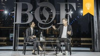 Imran Amed in conversation with Michael Beutler, director of sustainability operations at Kering, at the inaugural BoF China Summit | Source: Getty