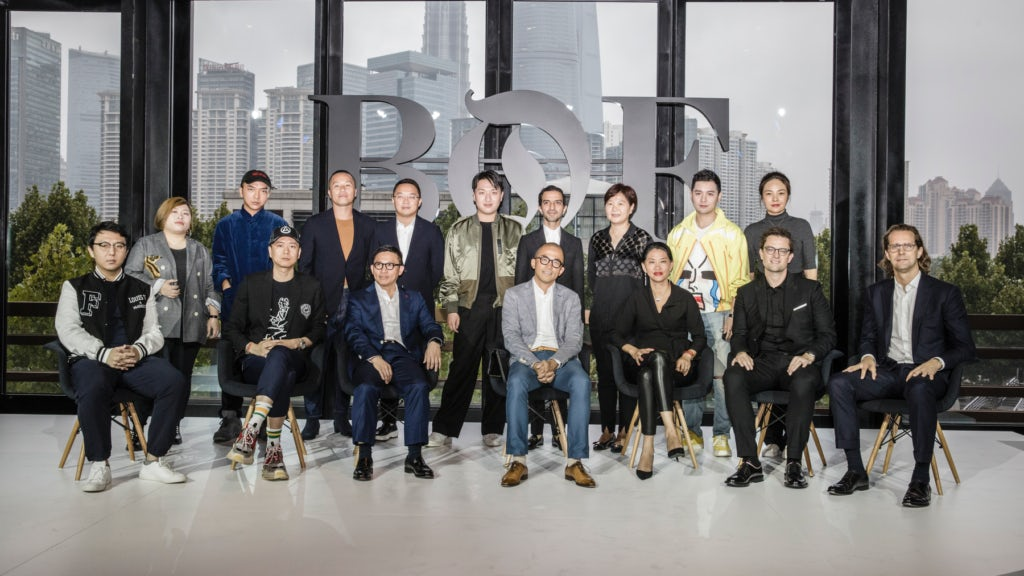 Speakers attend the BoF China Summit during Shanghai Fashion Week at Fosun Foundation in Shanghai, China