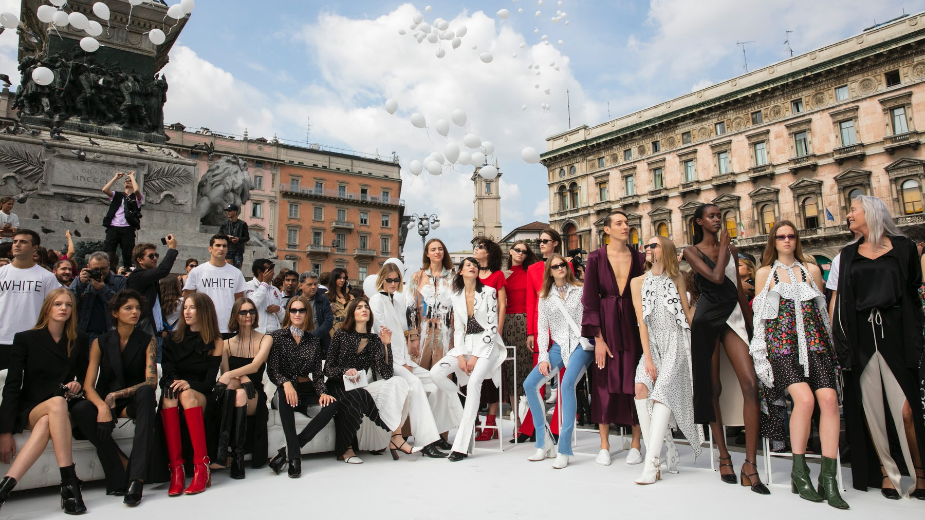 Guests at Sshena Spring/Summer 2018, White's special guest at the fair's Urban Catwalk Show | Source: Courtesy