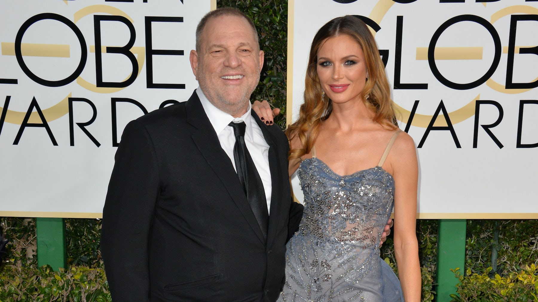 Harvey Weinstein and Georgina Chapman at this year's Golden Globe Awards | Source: Shutterstock