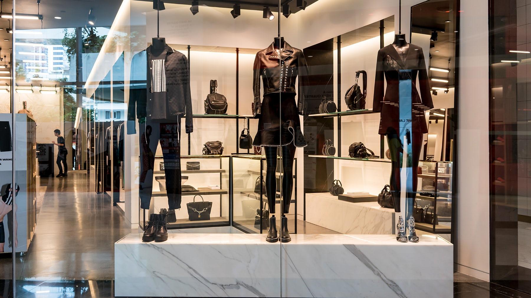 Alexander Wang's monochrome display in Bangkok   Source: Shutterstock