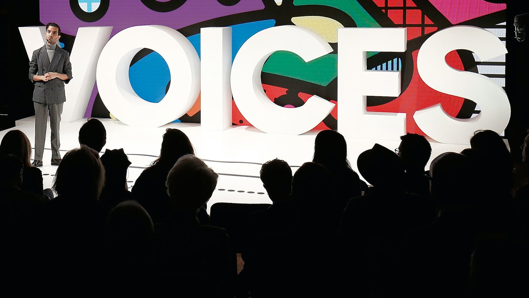 Imran Amed speaks on stage during VOICES 2016 | Source: Getty