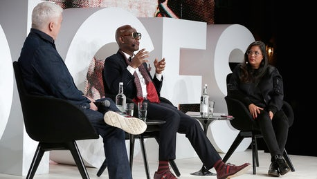 eac4bf28d26 Dapper Dan and Leila Fataar joined BoF editor-at-large Tim Blanks on the   BoFVOICES stage to discuss the power dynamics of appropriation and the  legendary ...