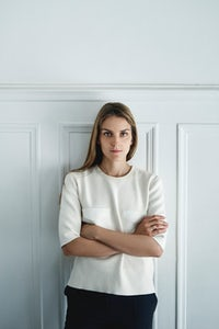 Gaia Repossi in her office | Photo: Antoine Doyen for BoF