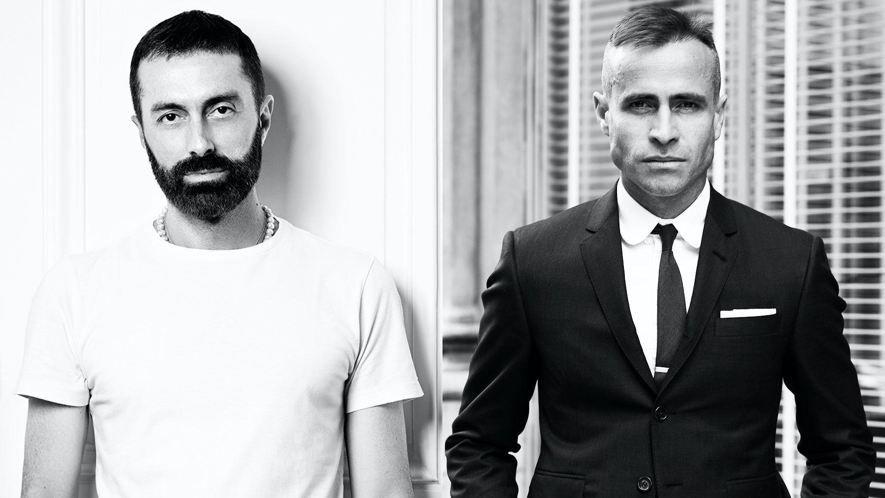 Moncler Gamme Rouge designer Giambattista Valli and Moncler Gamme Bleu designer Thom Browne | Sources: Courtesy