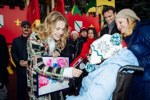 Natalia Vodianova at the Kaliningrad play park opening in 2017