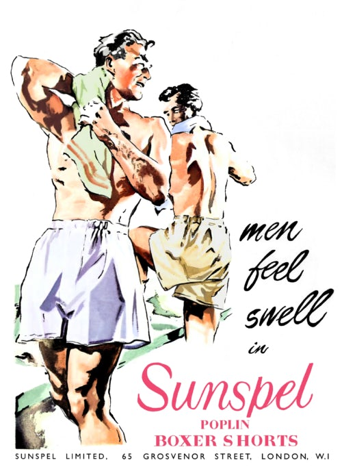 "Sunspel ""Men Feel Swell"" advertisement"
