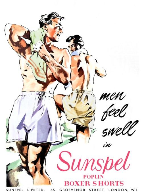 "Sunspel ""Men Feel Swell"" advertisement"