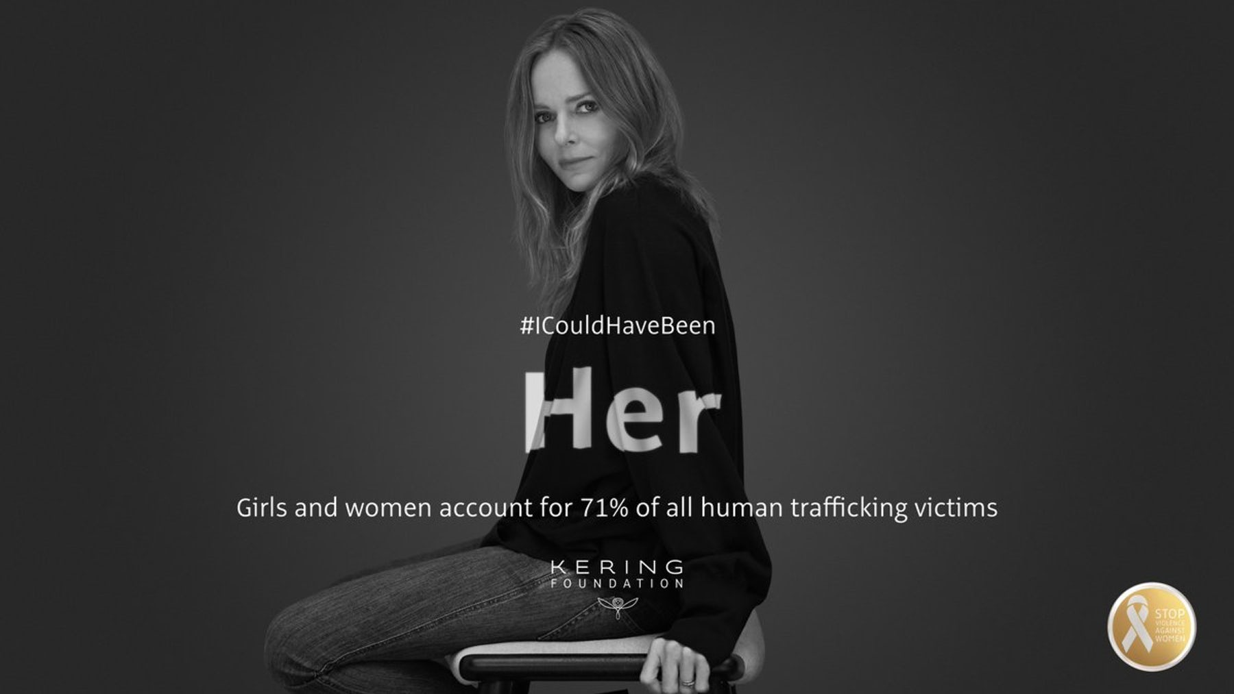 Stella McCartney in Kering's #ICouldHaveBeen campaign | Source: Facebook