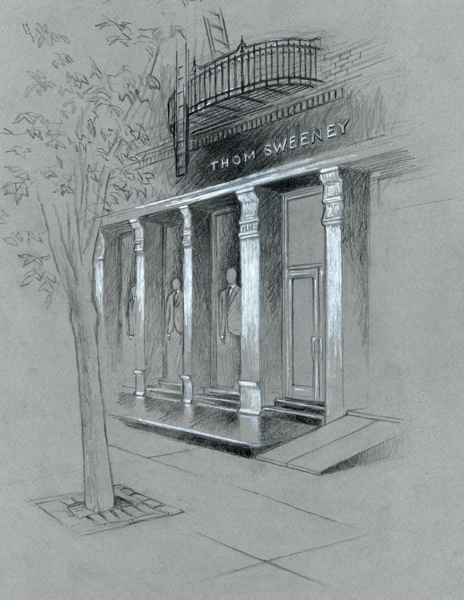 Thom Sweeney's 362 West Broadway, New York store sketch | Source: Courtesy
