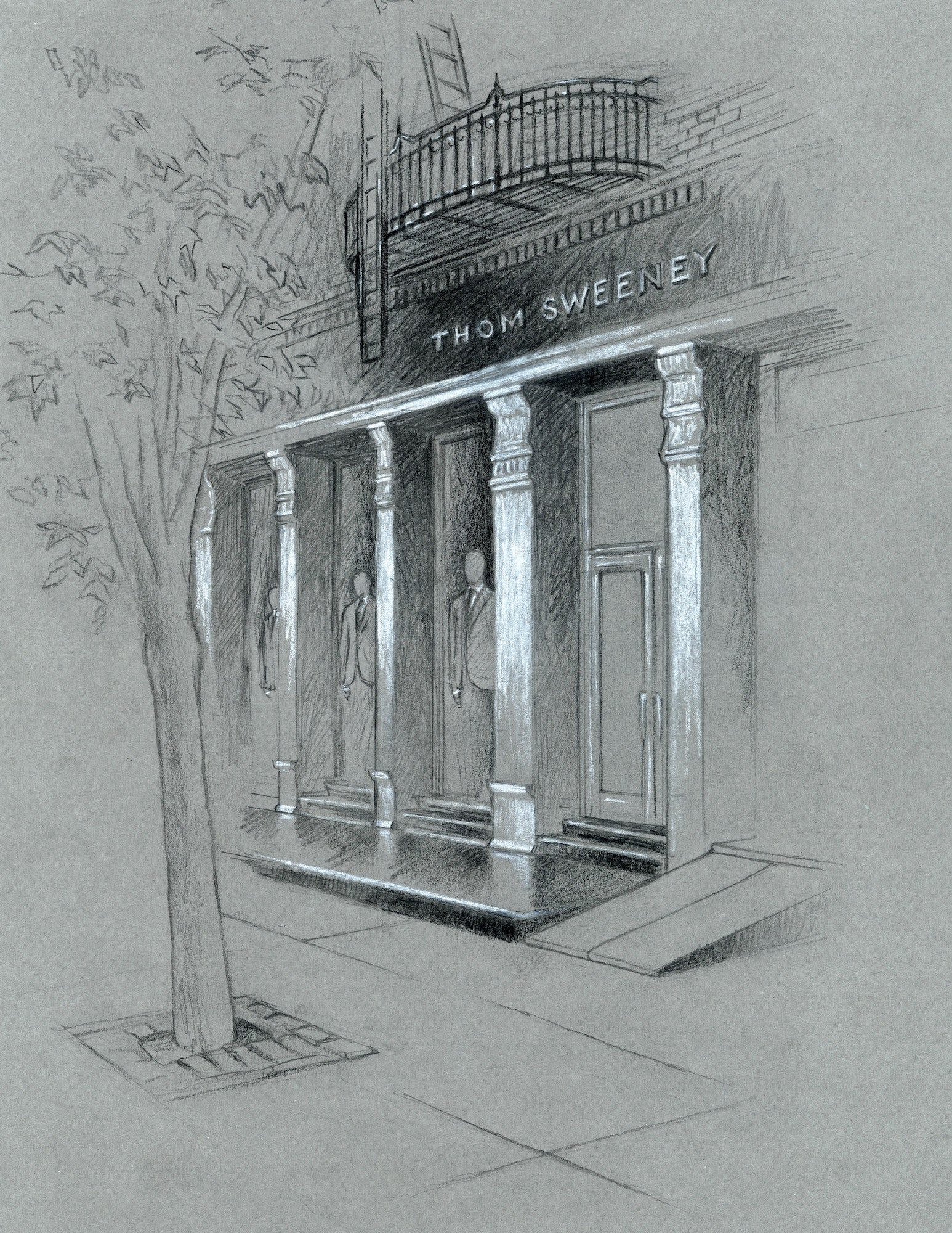 Thom Sweeney's 362 West Broadway, New York store sketch | Source: Courtesy