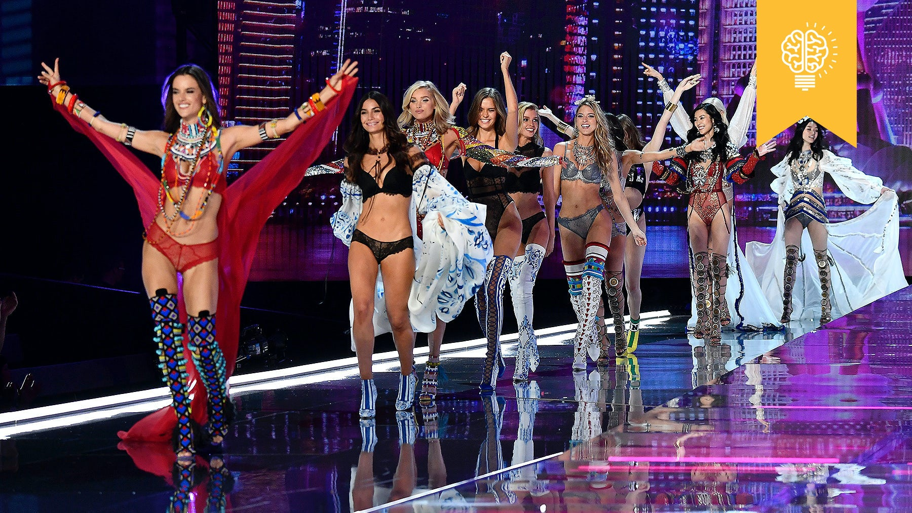Models walk the runway at the 2017 Victoria's Secret Fashion Show   Source: Courtesy