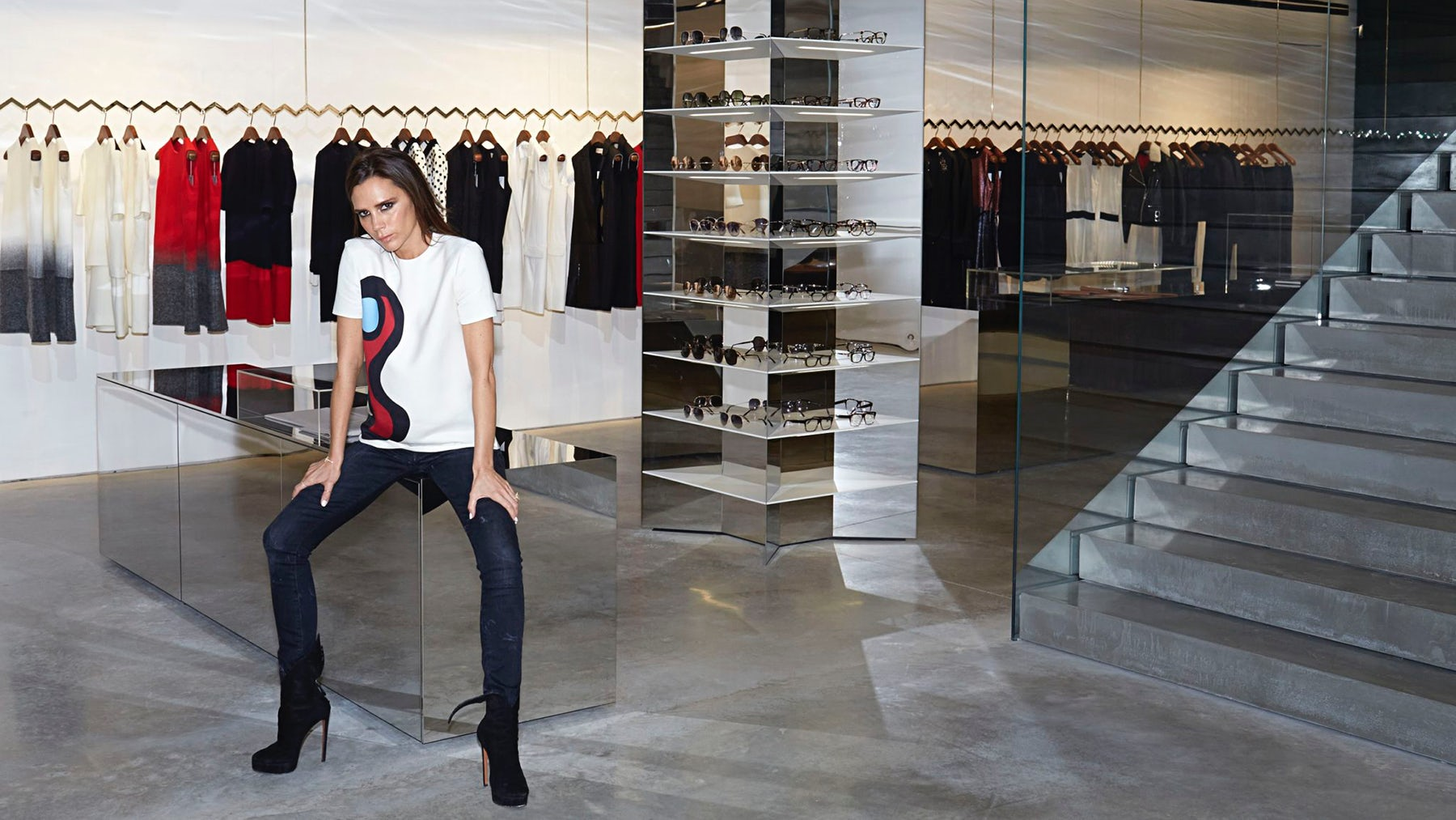 Victoria Beckham at her store in Dover Street, London | Source: Courtesy