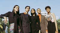 From left: Suzanne Baker, Saket Sharma, Ravyanshi Mehta, Nitigya Singh, Komal Gajjar (all wearing Gucci) | Photography by R Burman for BoF