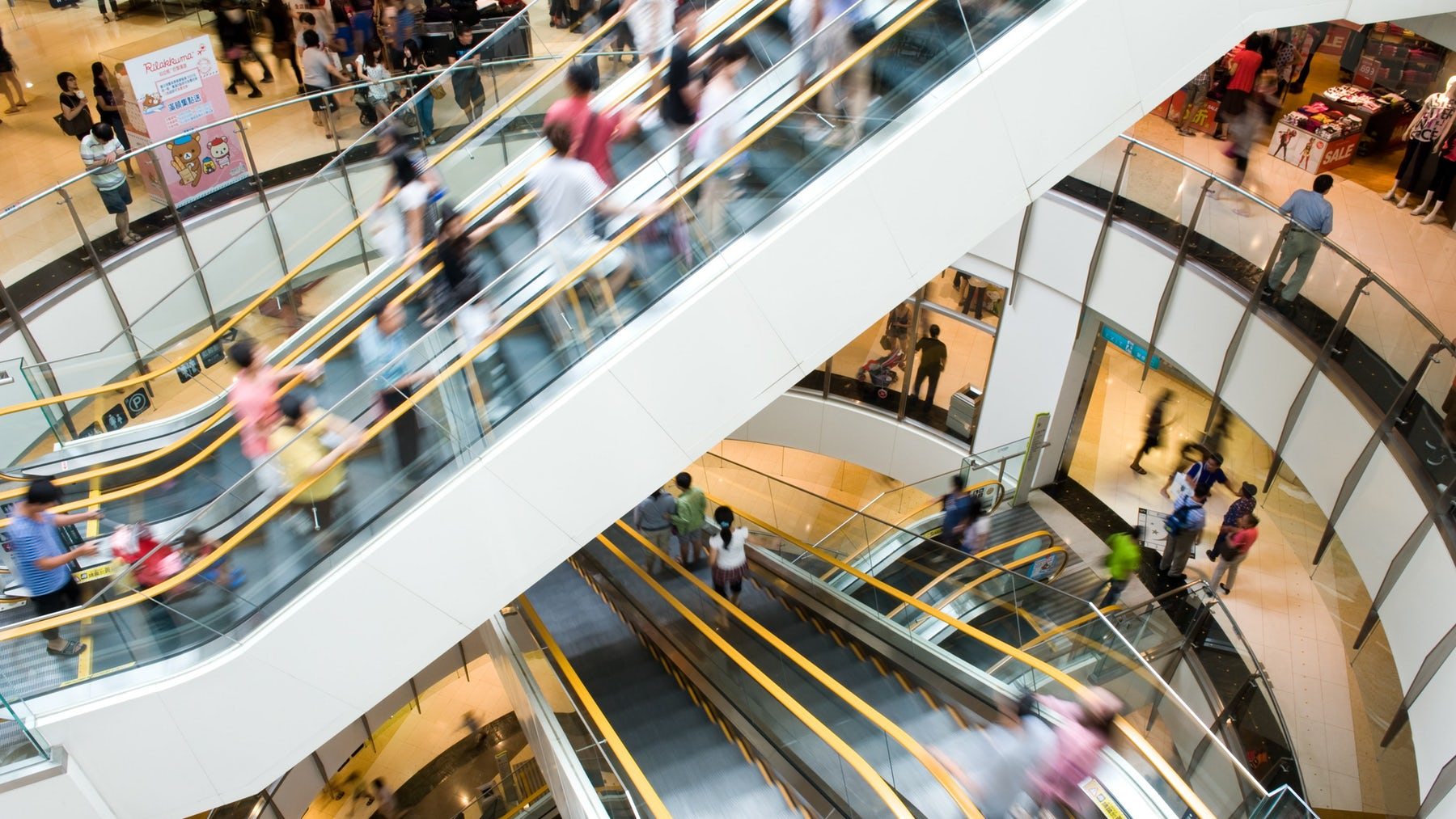 Crowds at a shopping mall | Source: Shutterstock