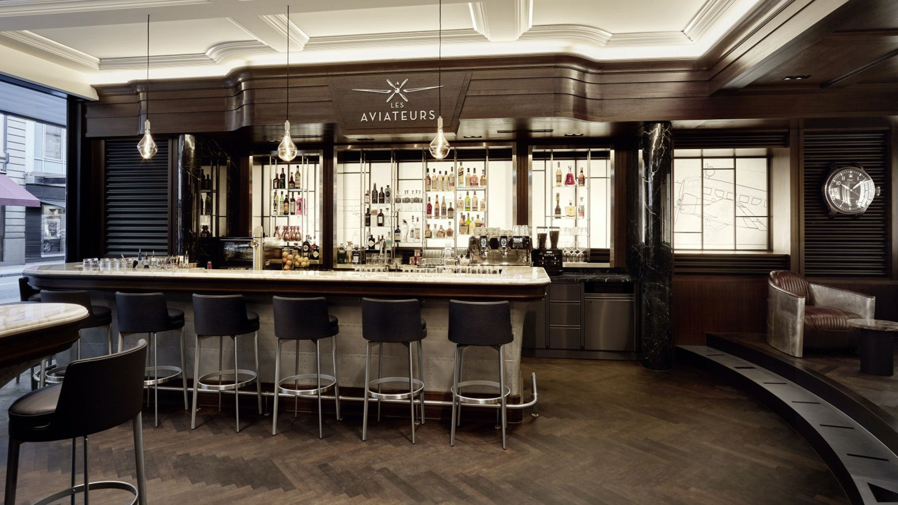 IWC pilot's bar in Geneva | Source: IWC