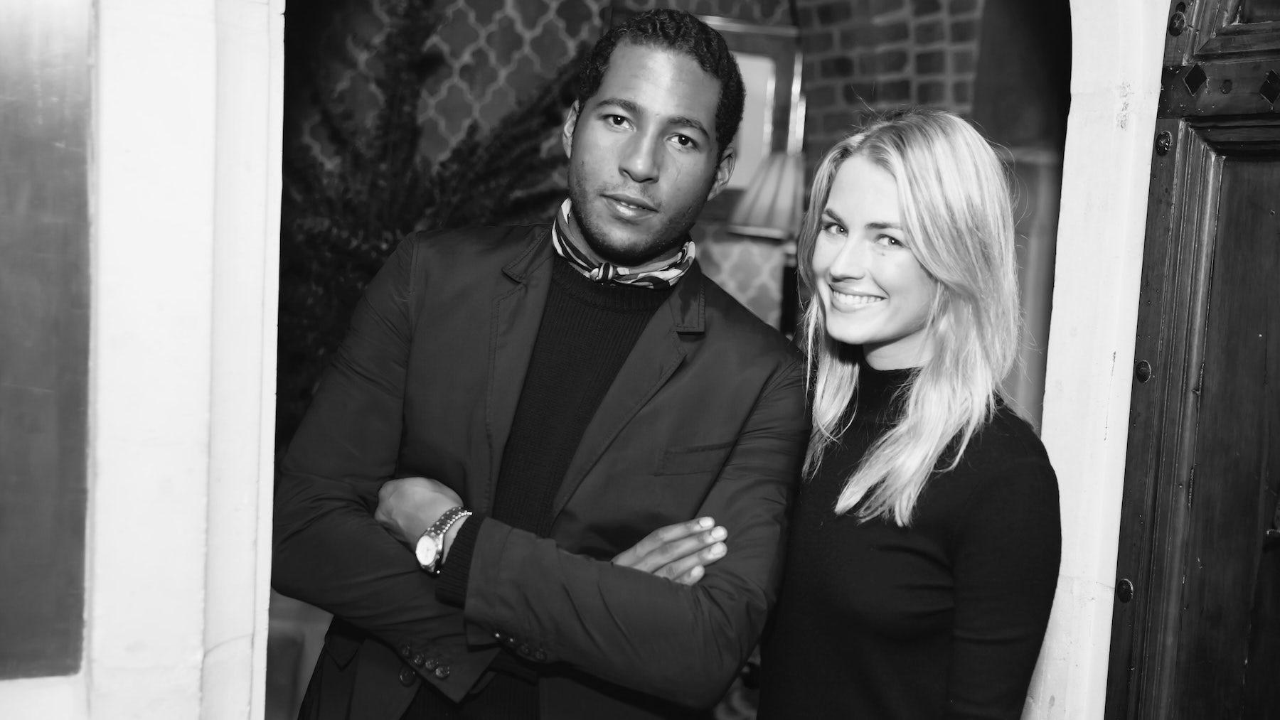 Hassan Pierre and Amanda Hearst, co-founders of Maison-de-mode.com   Source: Courtesy