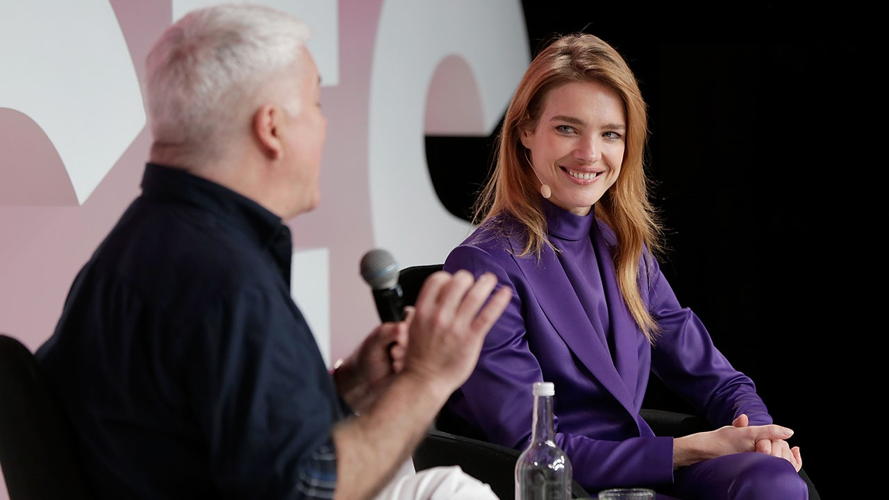BoF's Tim Blanks and Natalia Vodianova at VOICES 2017 | Source: Getty
