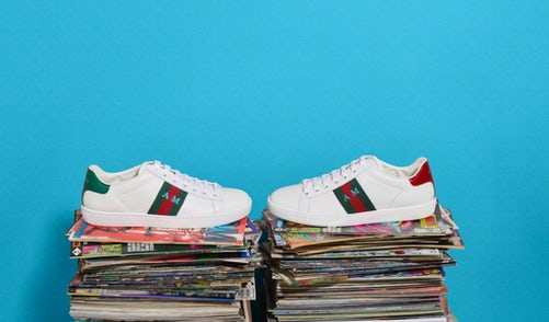 MyTheresa Gucci DIY sneakers