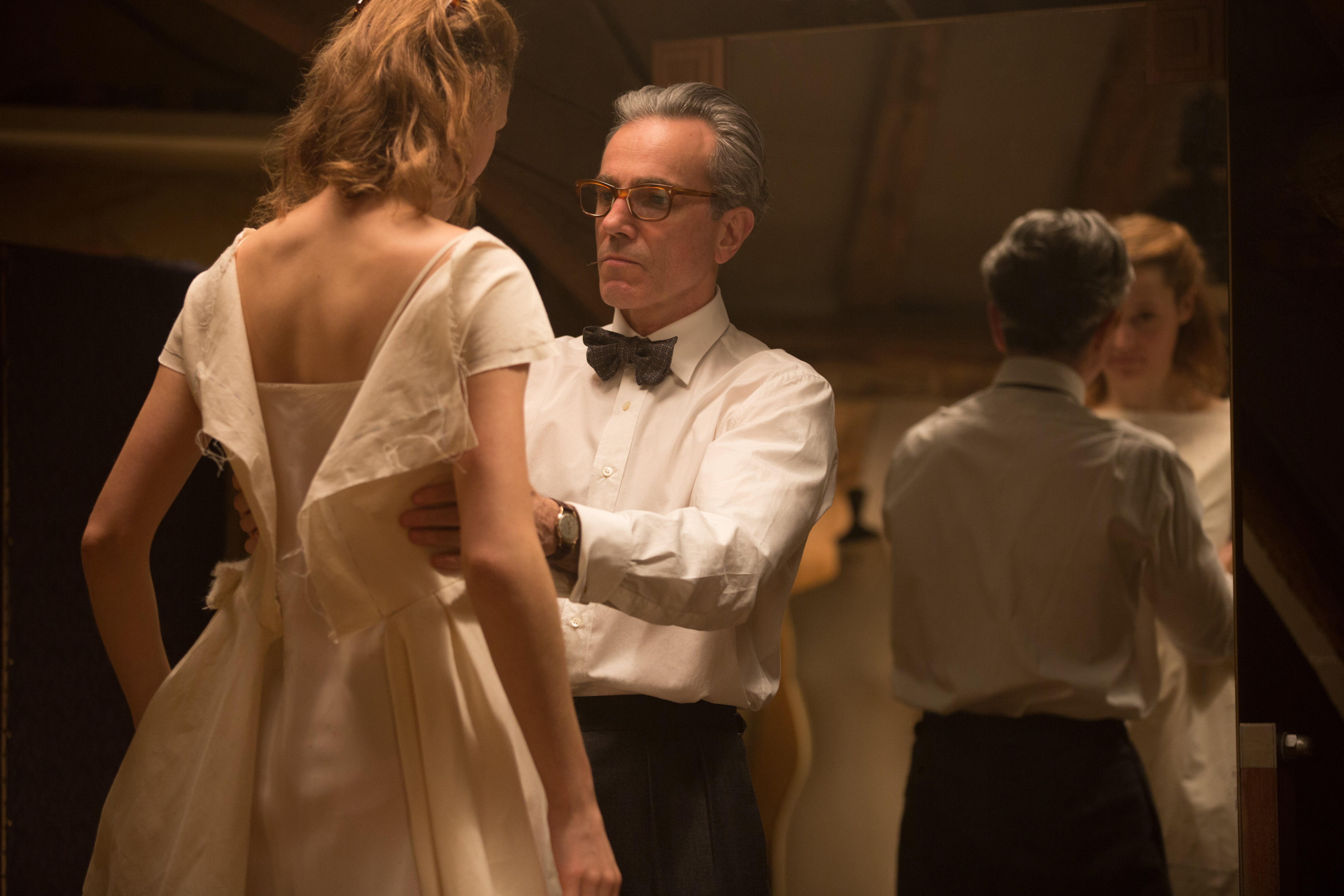 Vicky Krieps and Daniel Day-Lewis in Phantom Thread   Source: Photo by Laurie Sparham at Focus Features