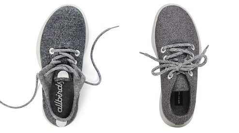2d5256aefaf The Allbirds wool runner (left) and Steve by Steve Madden women s traveler  sneaker (