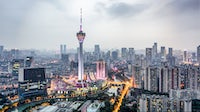The skyline of Chengdu, China featuring West Pearl Tower | Source: Getty Images