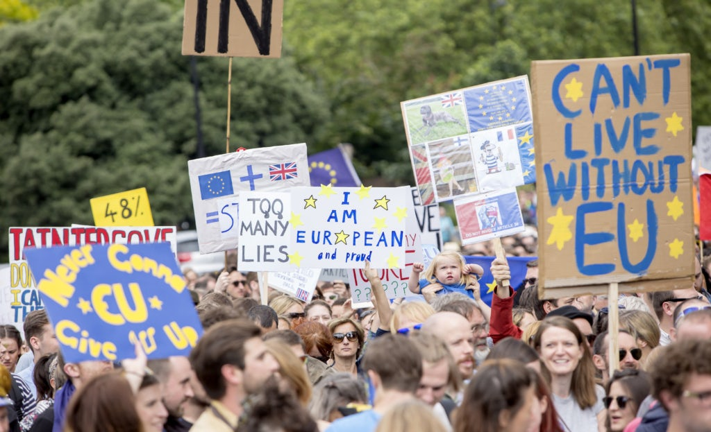 March for Europe, London, United Kingdom