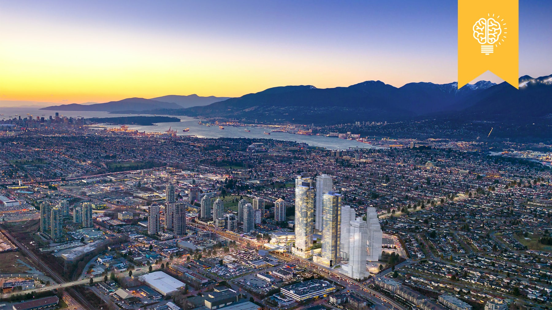 A rendering of the forthcoming The Amazing Brentwood in Vancouver | Source: Shape