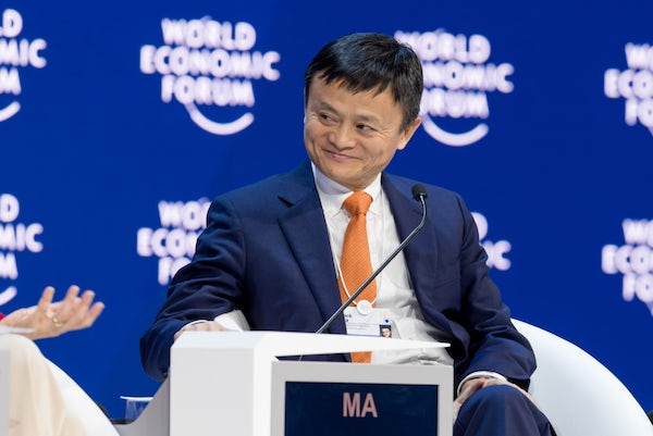 Jack Ma, Executive Chairman of Alibaba Group Holding at the World Economic Forum in Davos