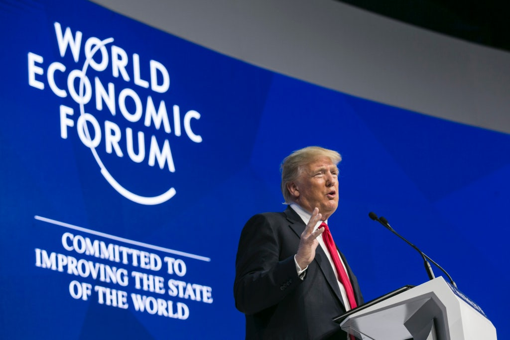 Donald J. Trump, President of the United States of America at the World Economic Forum