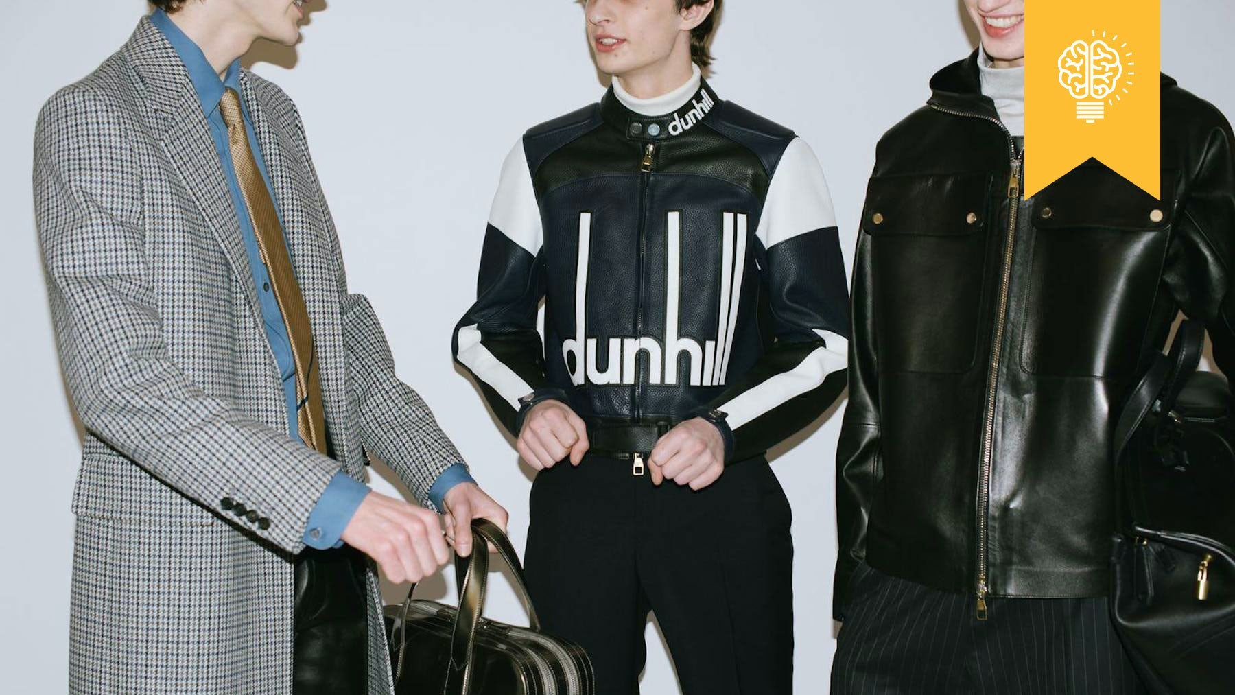 Backstage at Dunhill's Autumn/Winter 2018 show | Source: Dunhill
