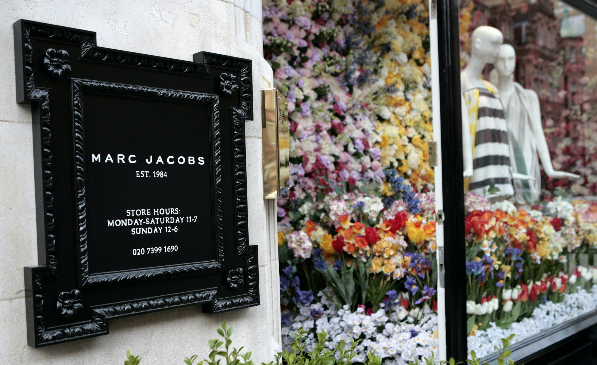 Outside of Marc Jacobs' Mount Street store. | Source:  Getty/Leon Neal