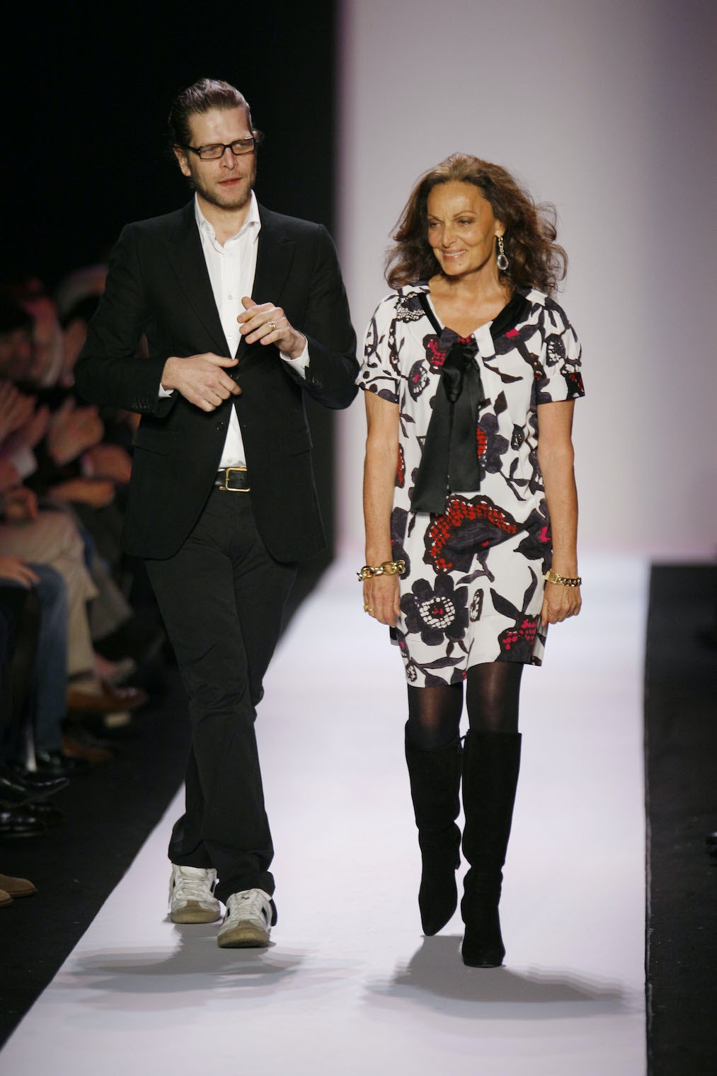 Nathan Jenden with Diane von Furstenberg | Source: Getty