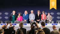 The seven female co-chairs of the 2018 World Economic Forum at Davos | Source: World Economic Forum