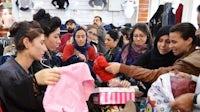 Yazidi women taken shopping by Khalsa Aid International   Photo: Savraj Kaur
