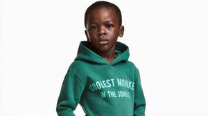 "H&M offended shoppers when a children's hoodie emblazoned with the phrase ""coolest monkey in the jungle"" was modelled in marketing materials by a young black boy 