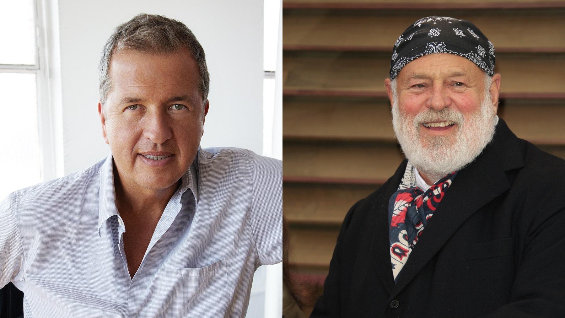 Mario Testino and Bruce Weber | Photo: Alex Bramall, Shutterstock